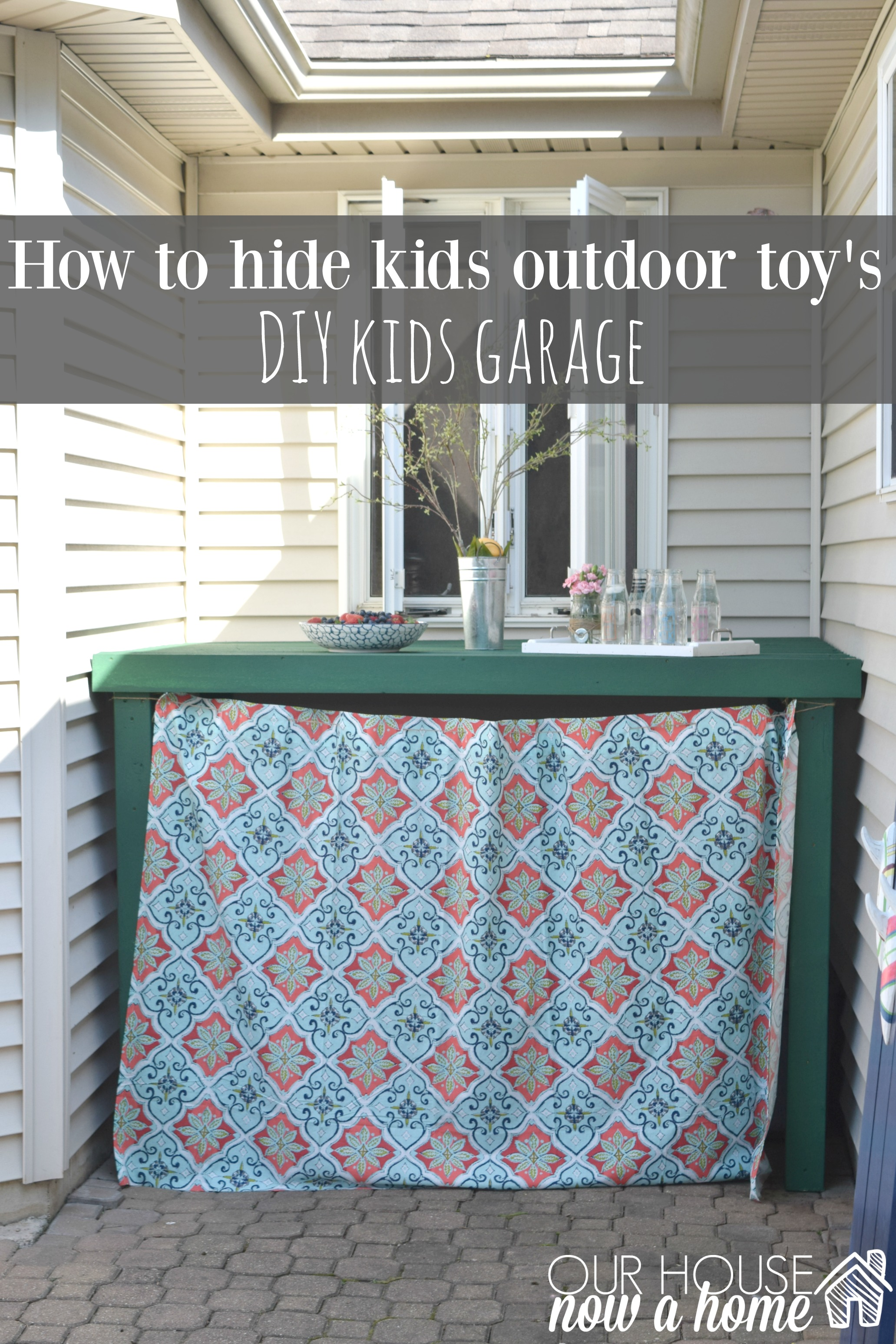 How To Hide Outdoor Kids Toys Storage Before
