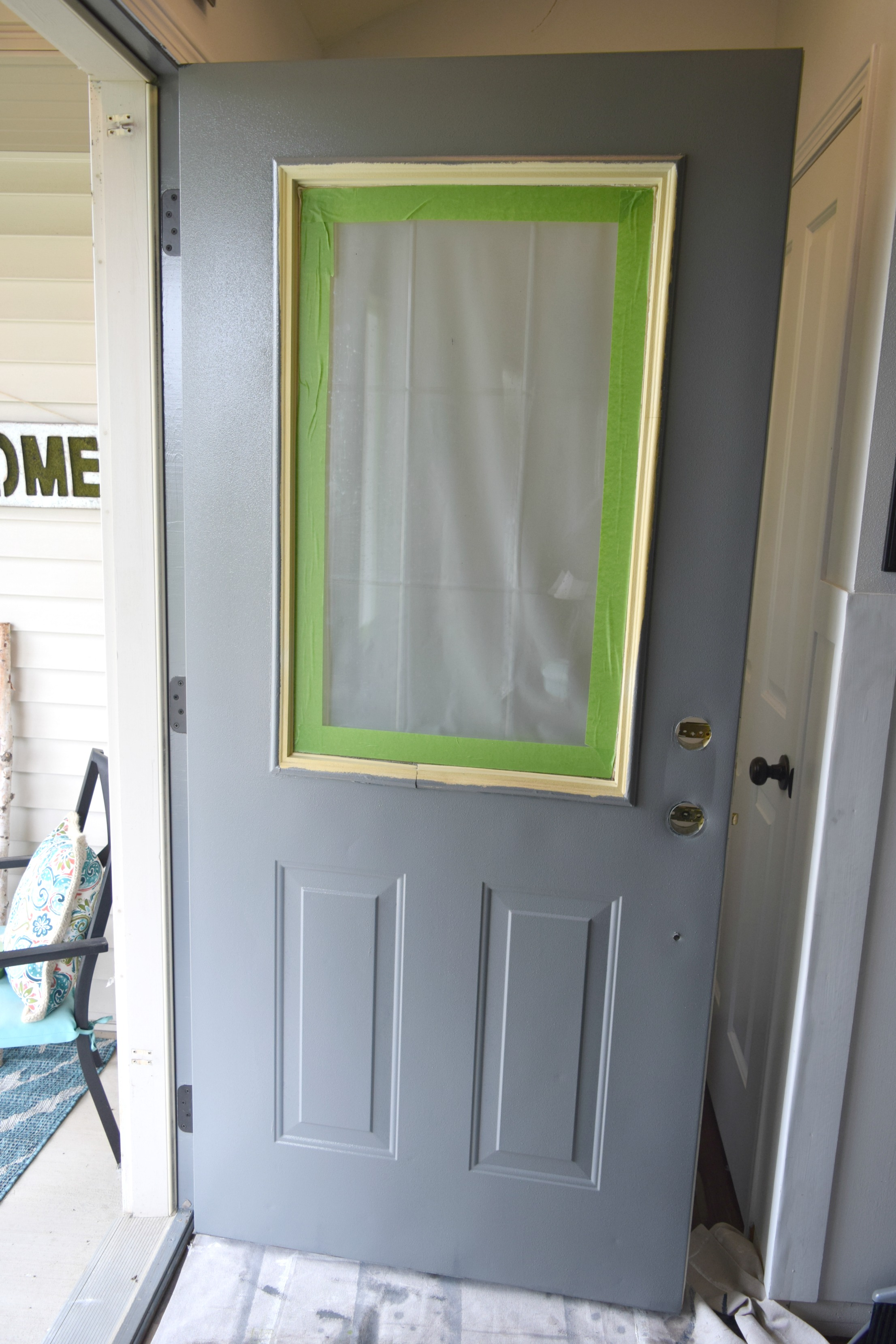 How To Paint A Front Door adding curb appeal, how to paint shutters and front door • our