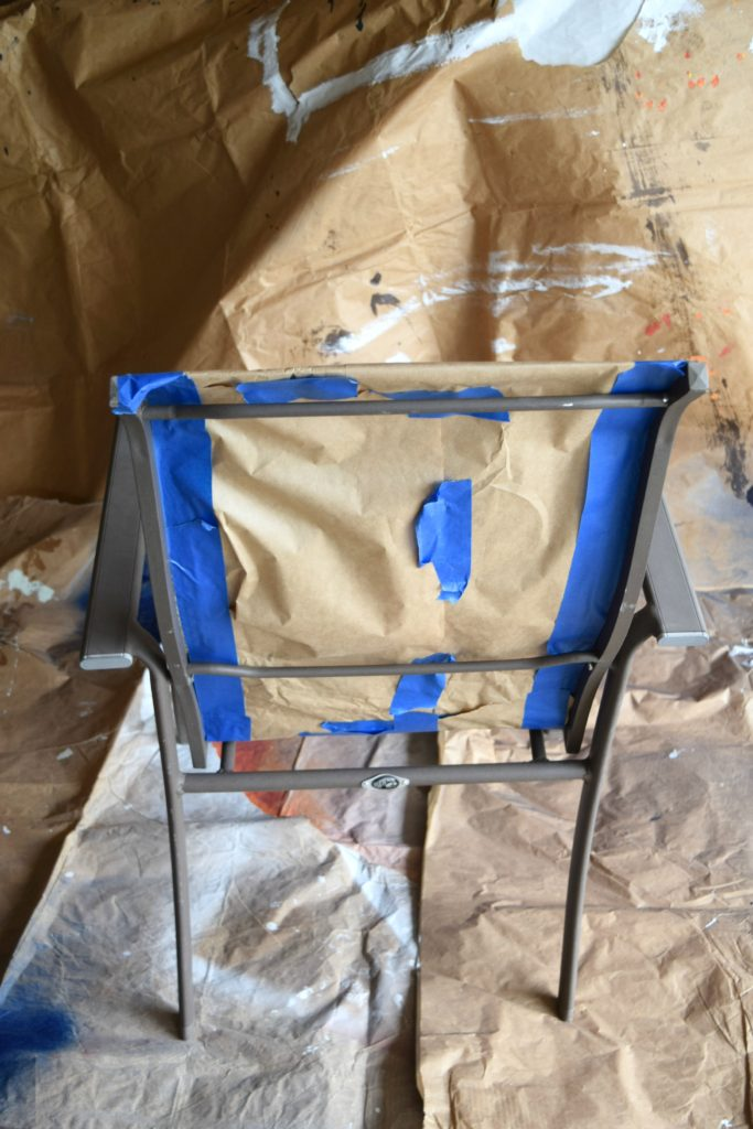 how to spray paint chairs