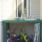 How to hide kids outdoor toys, a DIY storage solution