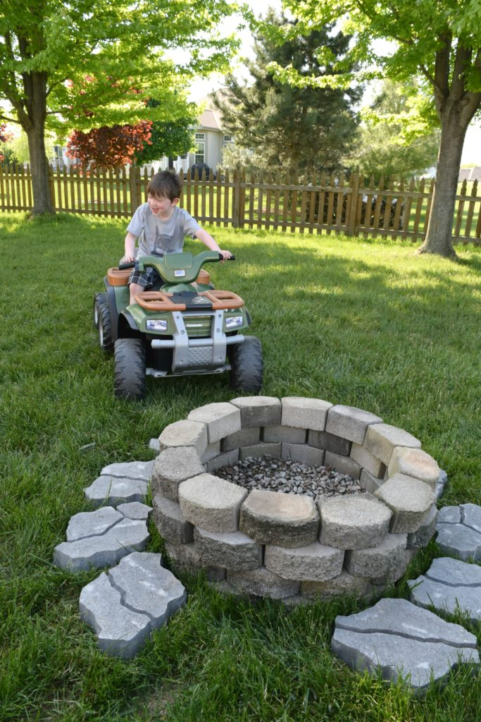 making a fire pit
