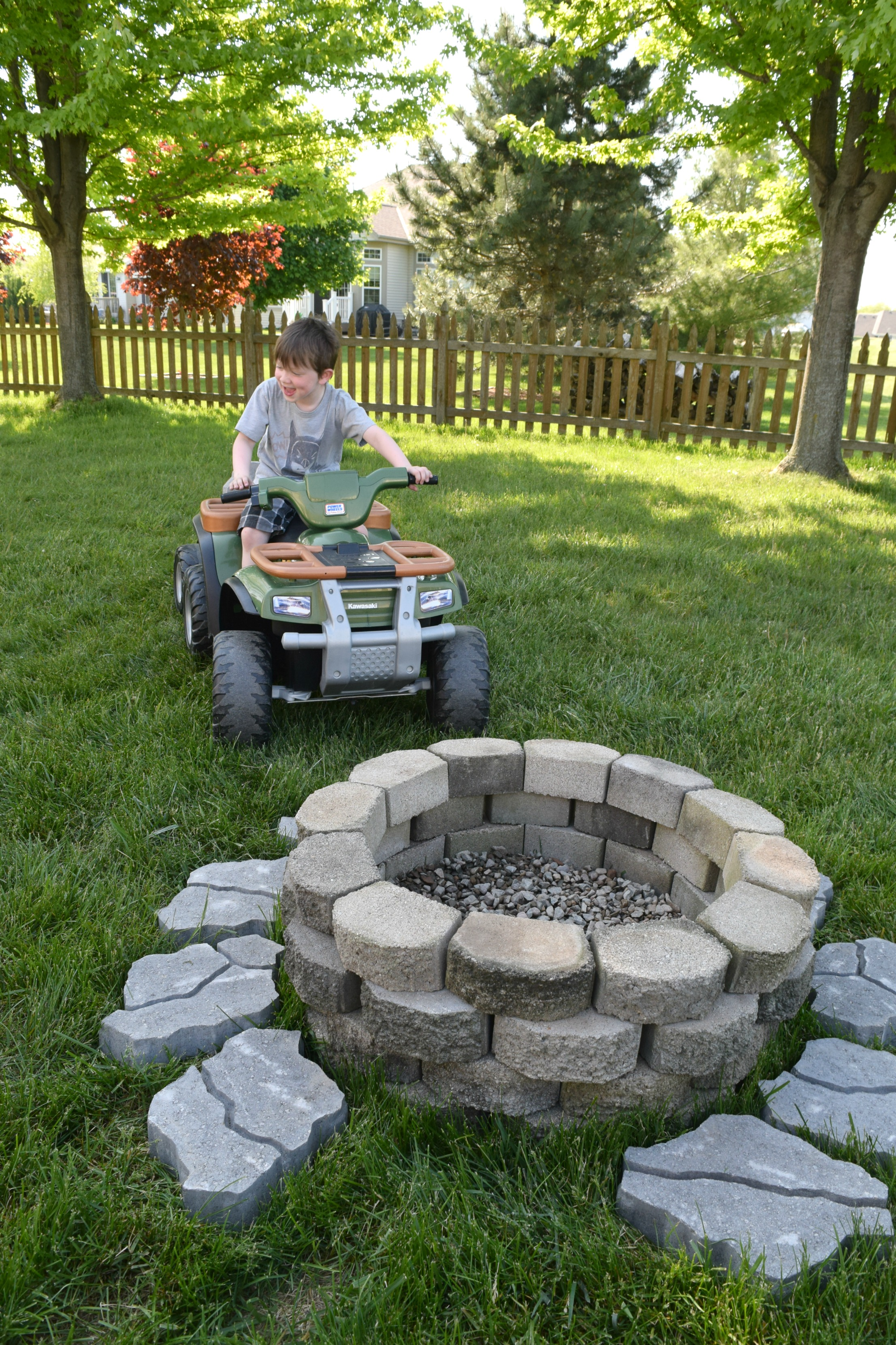DIY fire pit for the backyard • Our House Now a Home