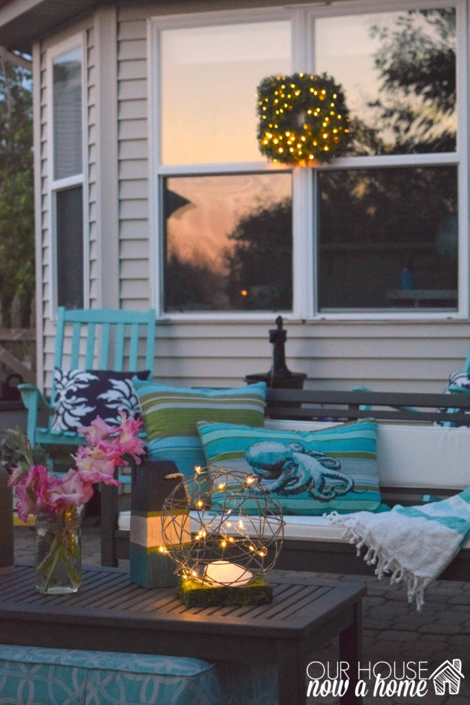 outdoor living at night