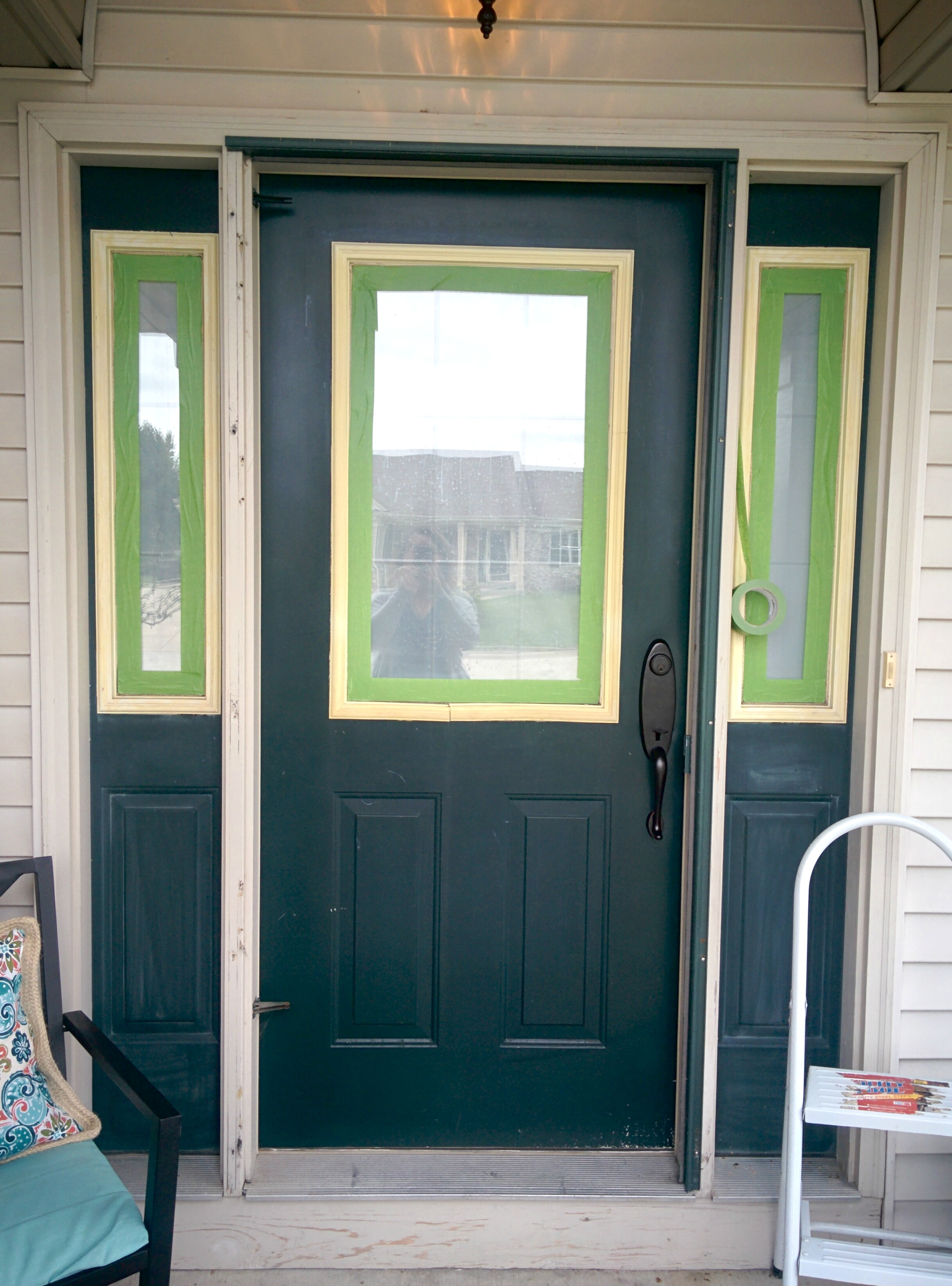 Adding curb appeal how to paint shutters and front door Dark green front door paint