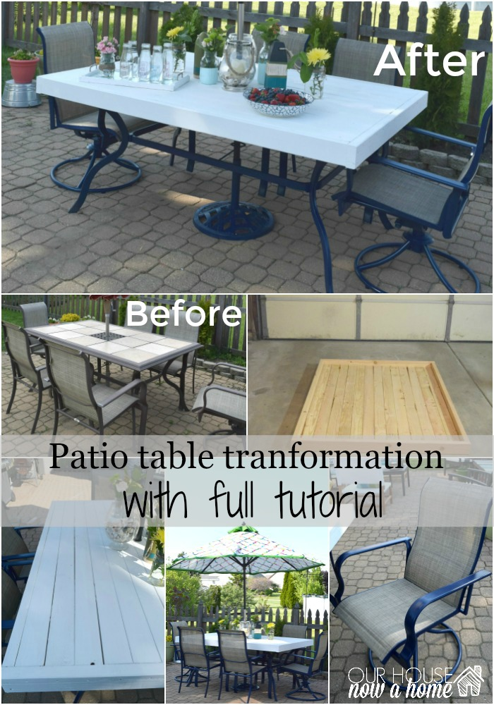 patio upcycle tutorial collage