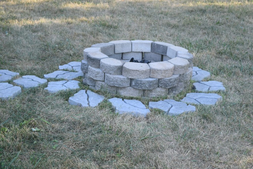 stone fire pit how to