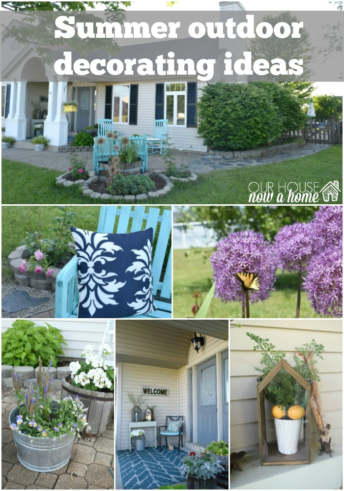 Adding curb appeal how to paint shutters and front door for Outdoor yard decorations for summer