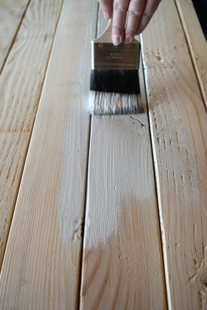 white wood stain color