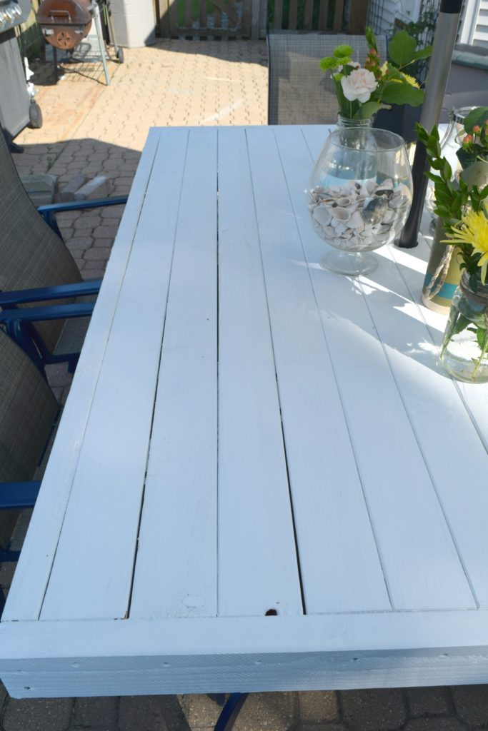 wood patio table DIY