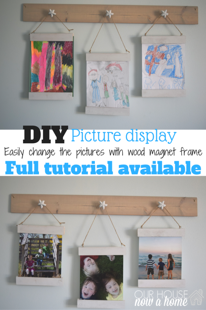 DIY changeable scrap wood picture frame
