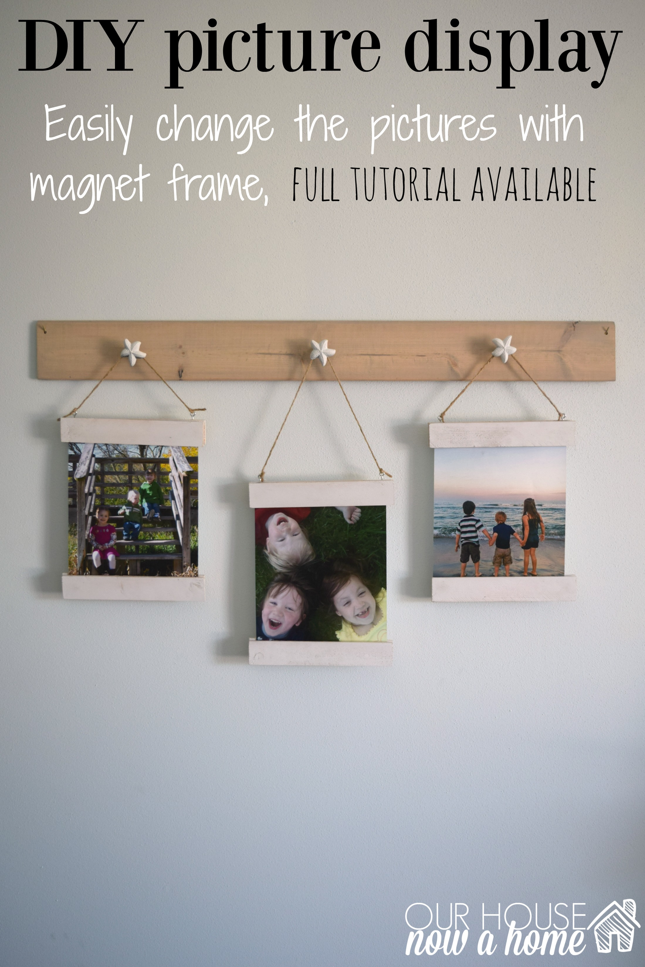 easy to change wall art display with magnet frame - Easy Change Artwork Frames