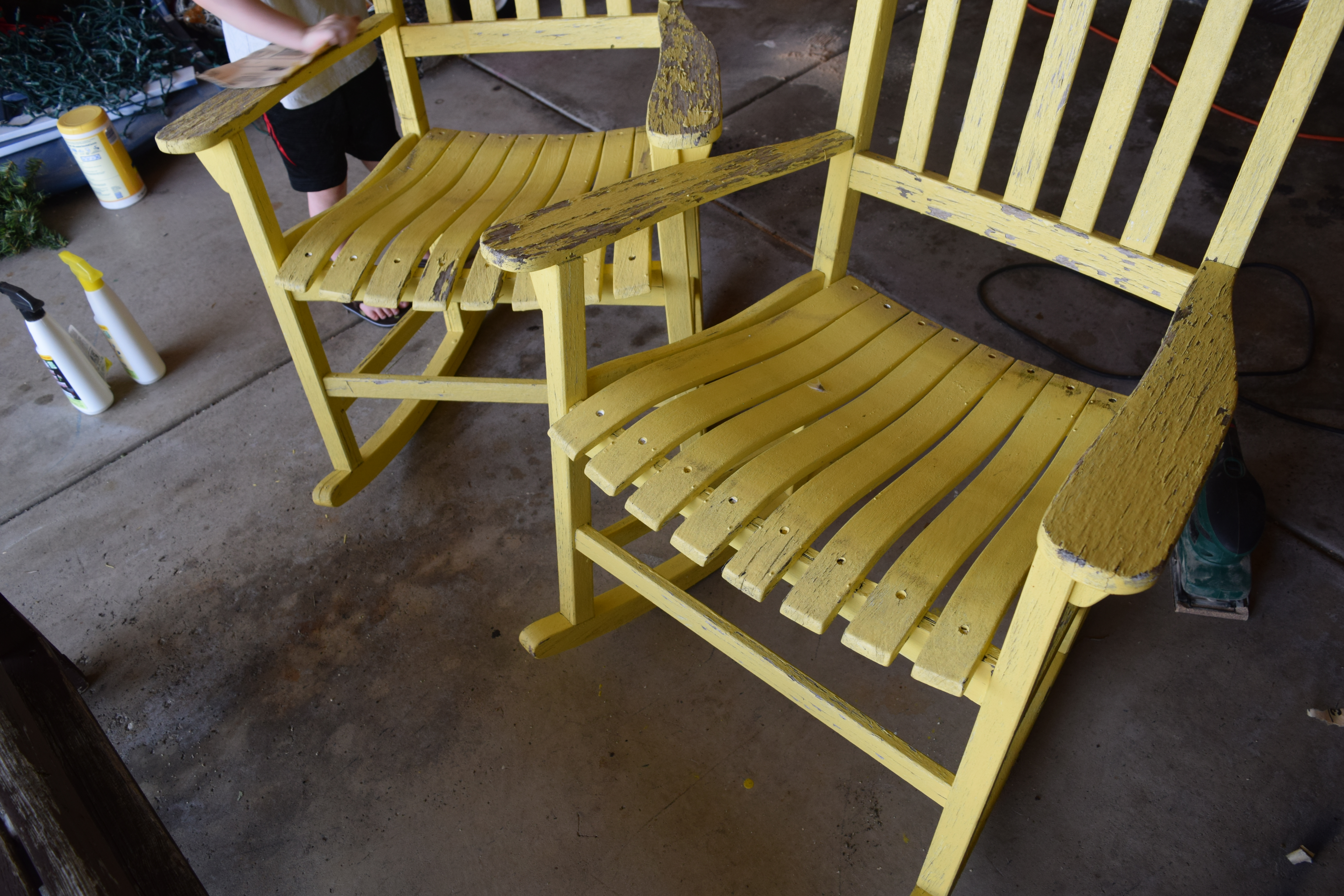 The First Step When Repainting Furniture Is To Sand Down Any Existing  Paint. You Do Not Need To Remove It All, Unless The Paint Color Is Super  Dark.