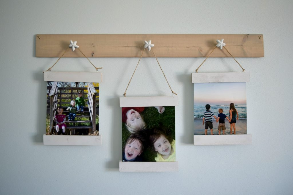 scrap wood frame DIY