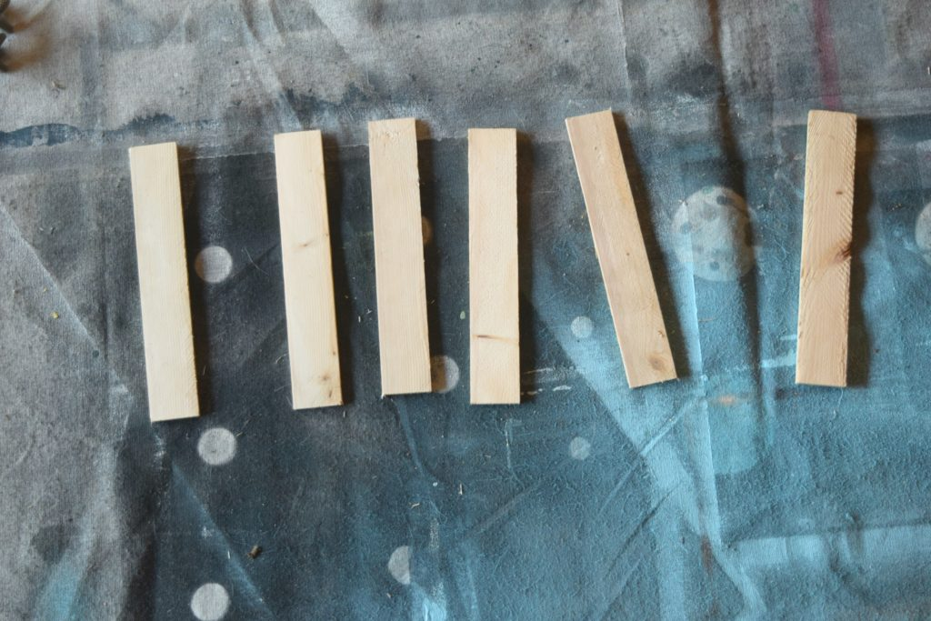 wood scraps not painted