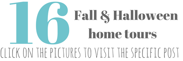 16 fall and Halloween blogger home tours
