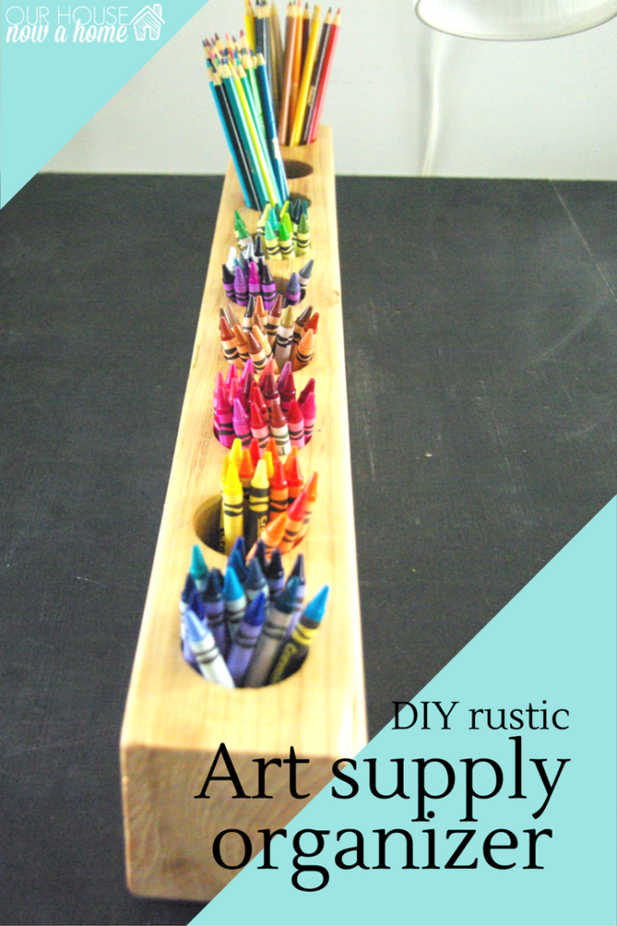 art supply organizer, DIY how to