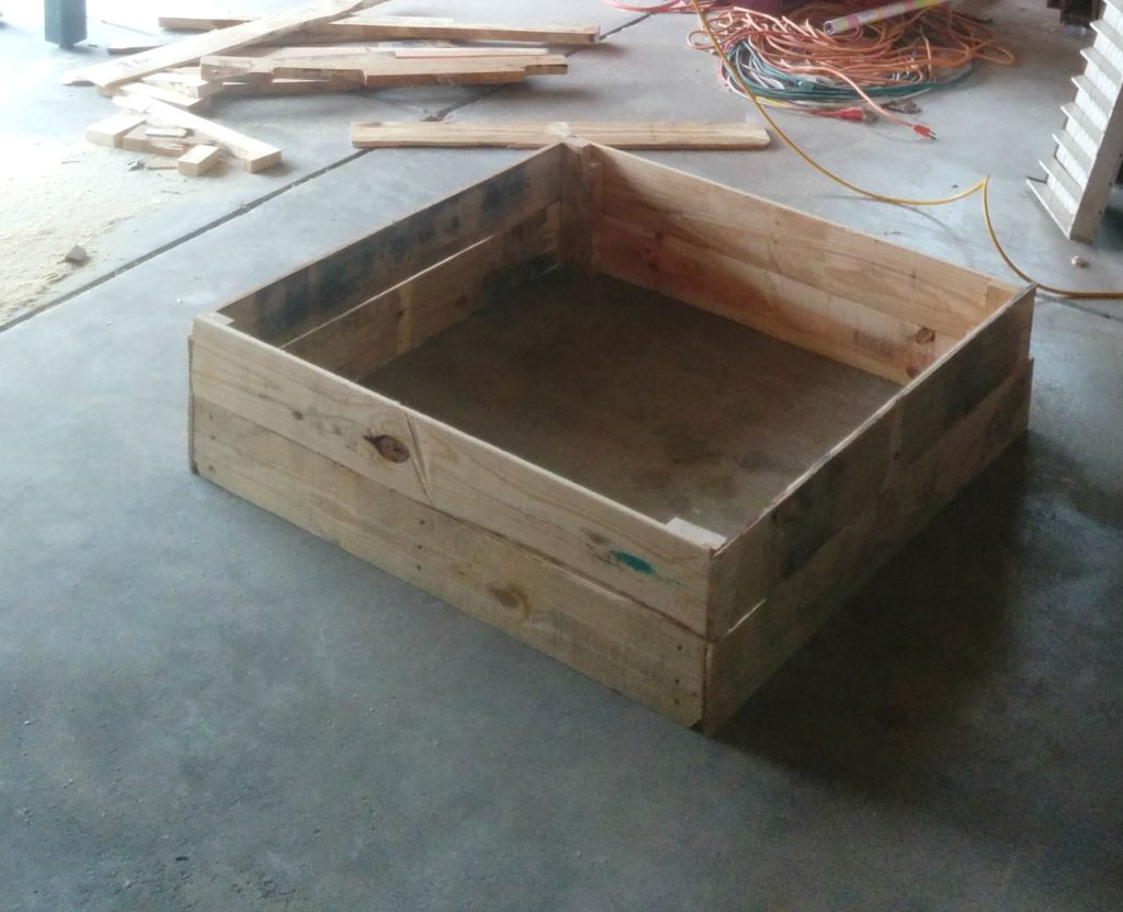 Large New Wooden Storage Box Diy Crates Toy Boxes Set: DIY Wood Pallet Under Bed Toy Storage • Our House Now A Home