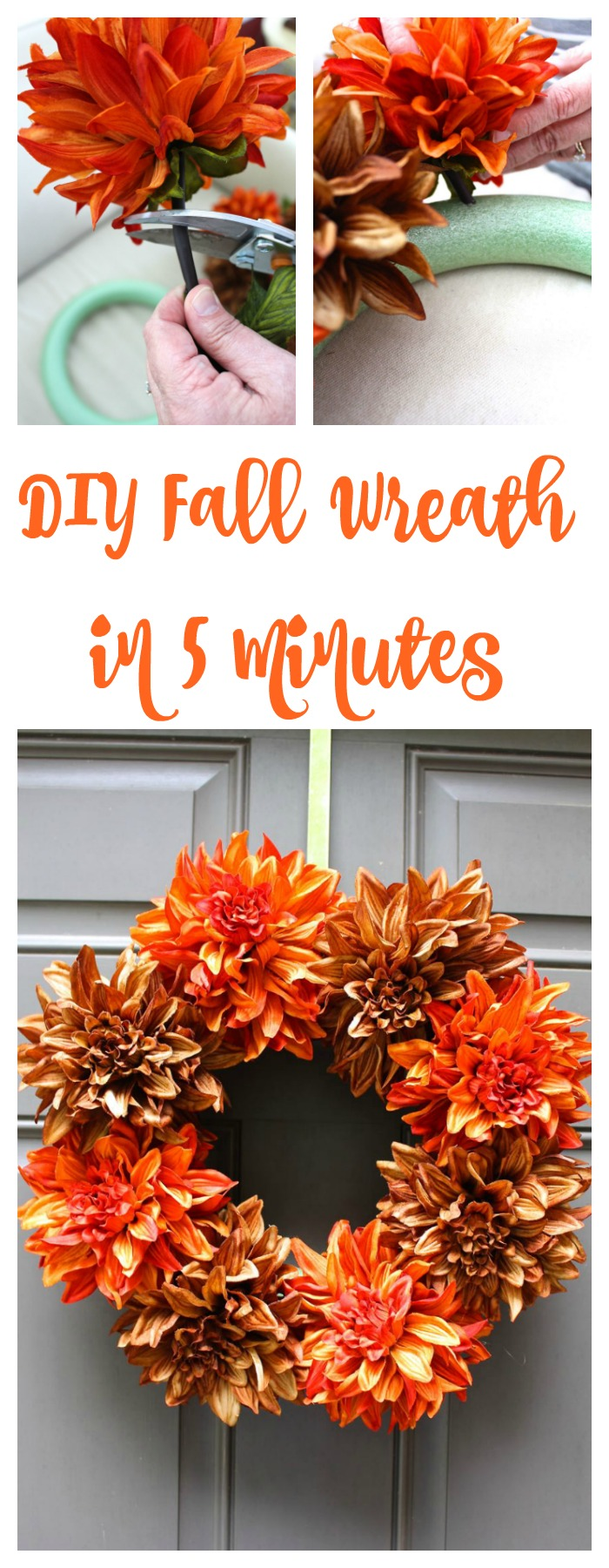 Easy DIY Fall Wreath in 5 minutes