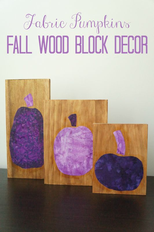 Wood Block Fabric Pumpkins