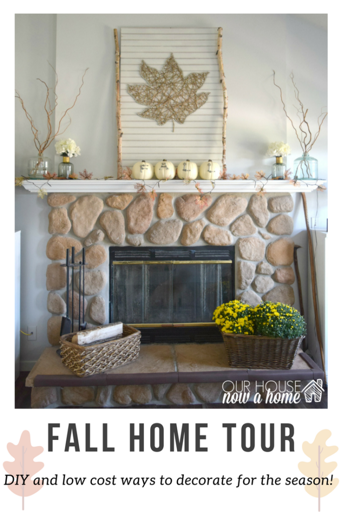 fall home tour and fireplace mantel