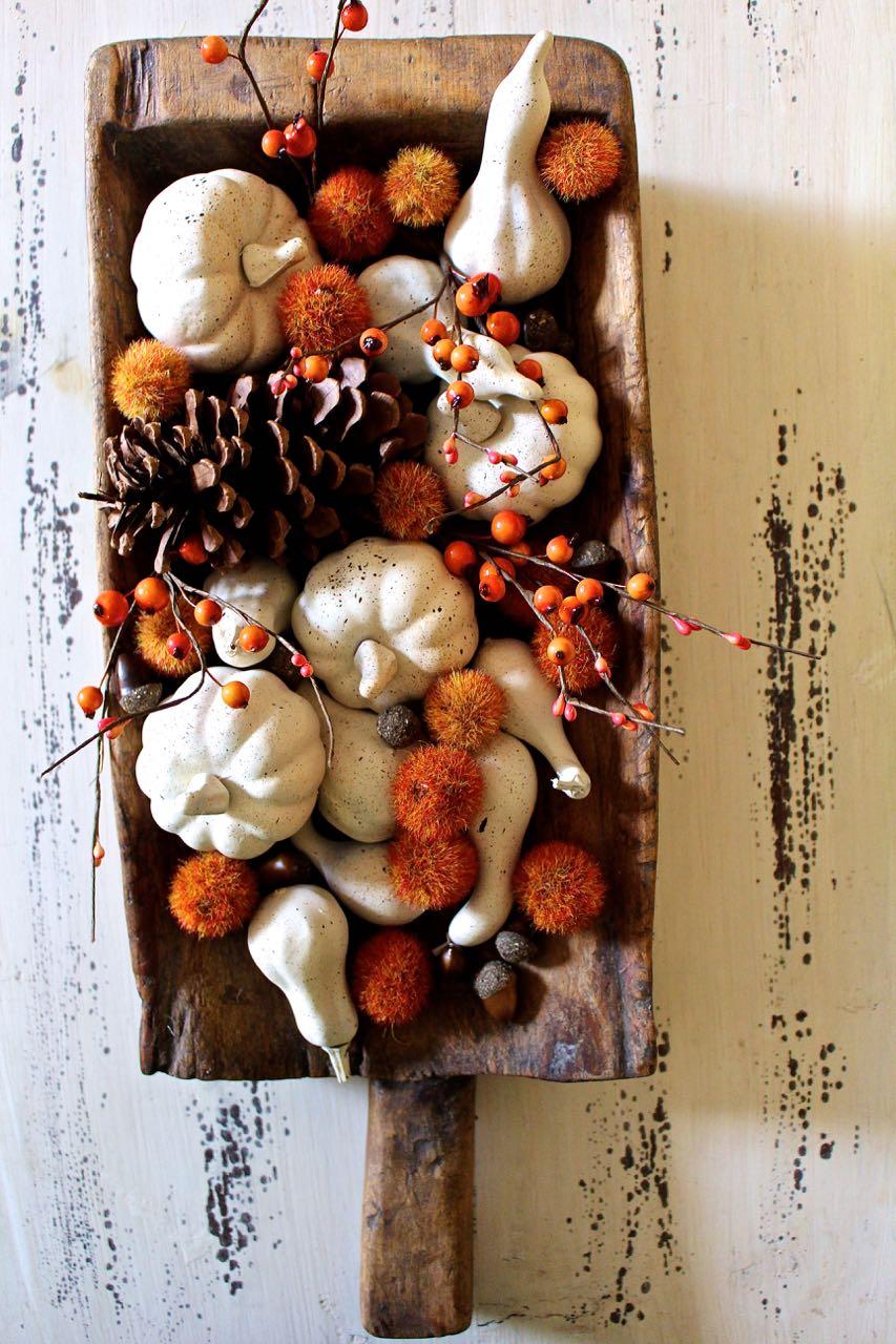 Fall Painted Neutral Pumpkins