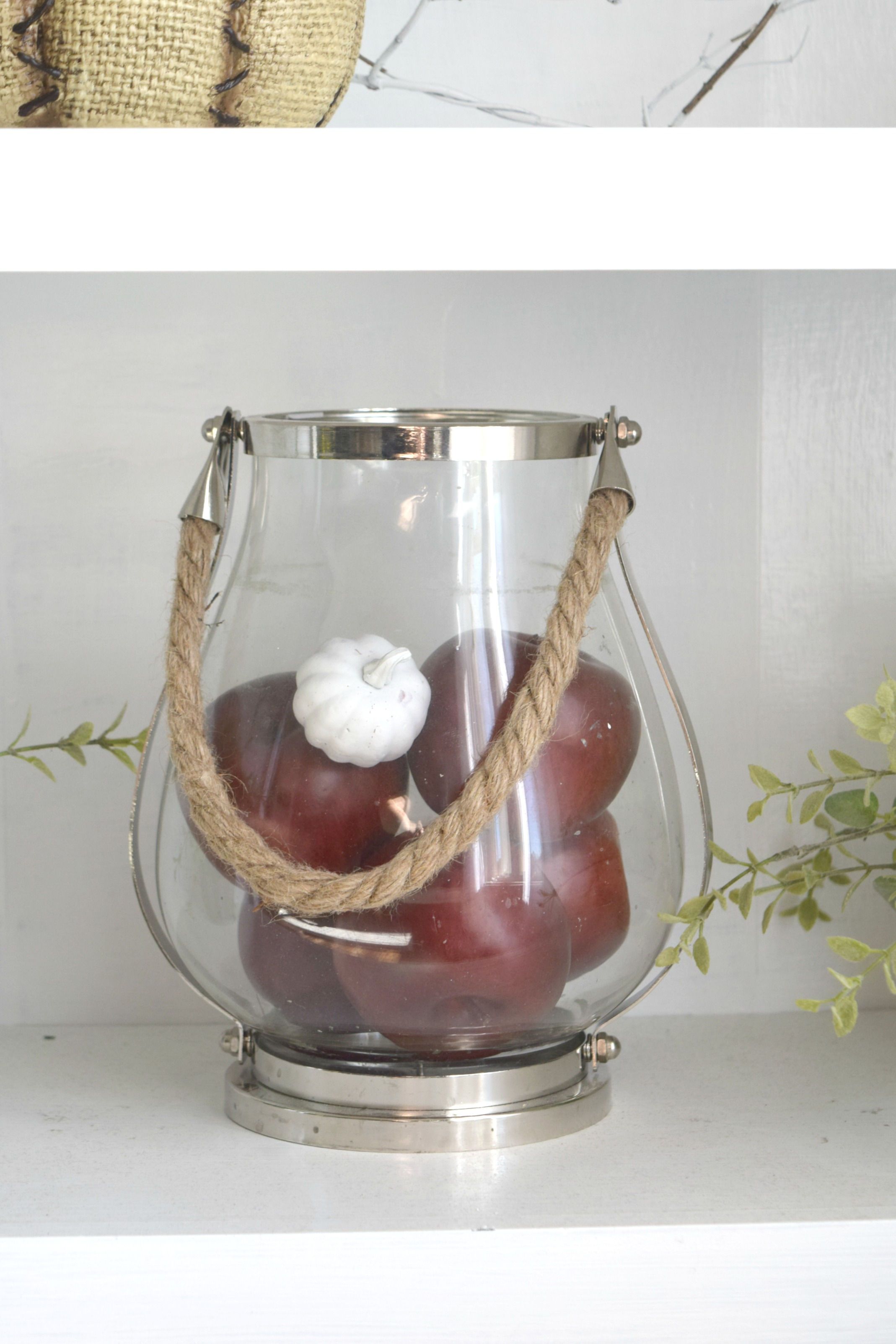 Natural and rustic a diy filled fall home tour our for Apple home decoration