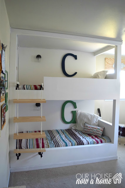 How to make built in bunk beds