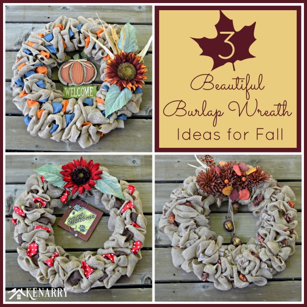 burlap wreath fall ideas