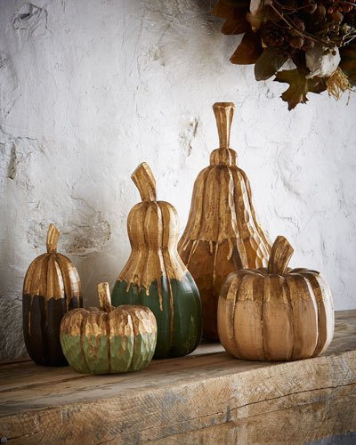 carved-wood-pumpkins