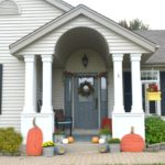 Outdoor fall home tour, keeping things traditional