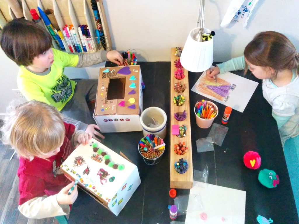 kids art table ideas