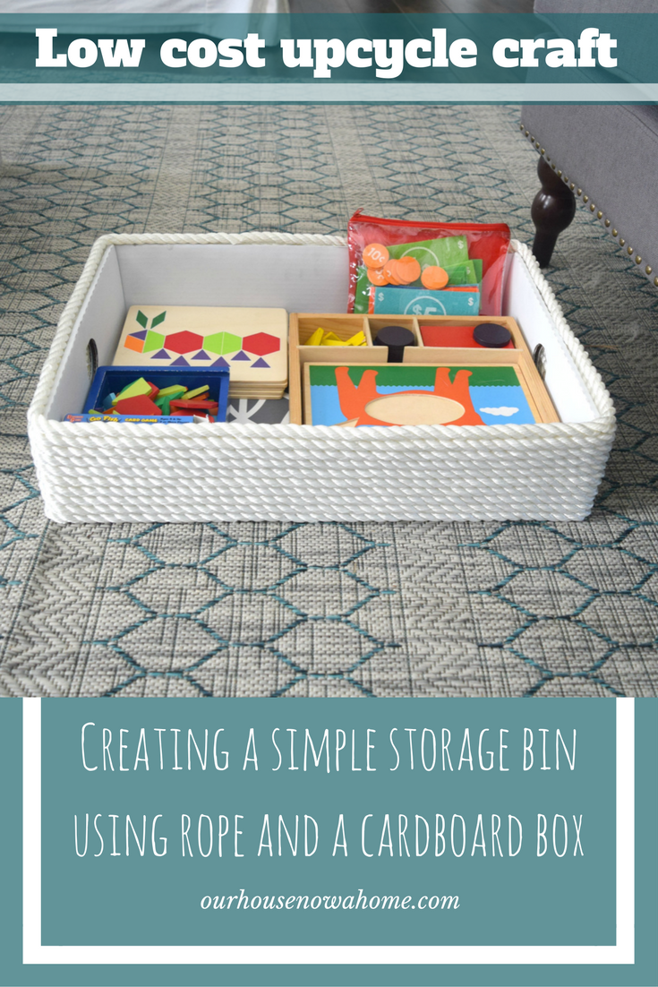creating a simple storage bin using and a cardboard box u2022 our