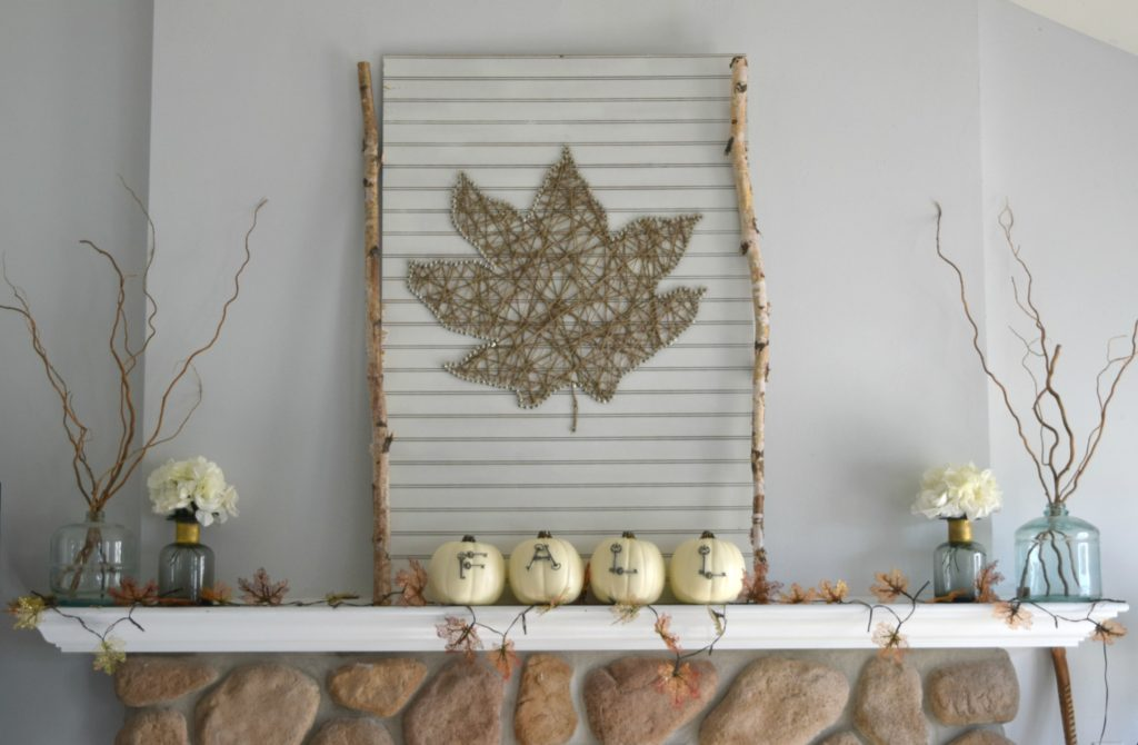 fireplace mantel ideas for fall