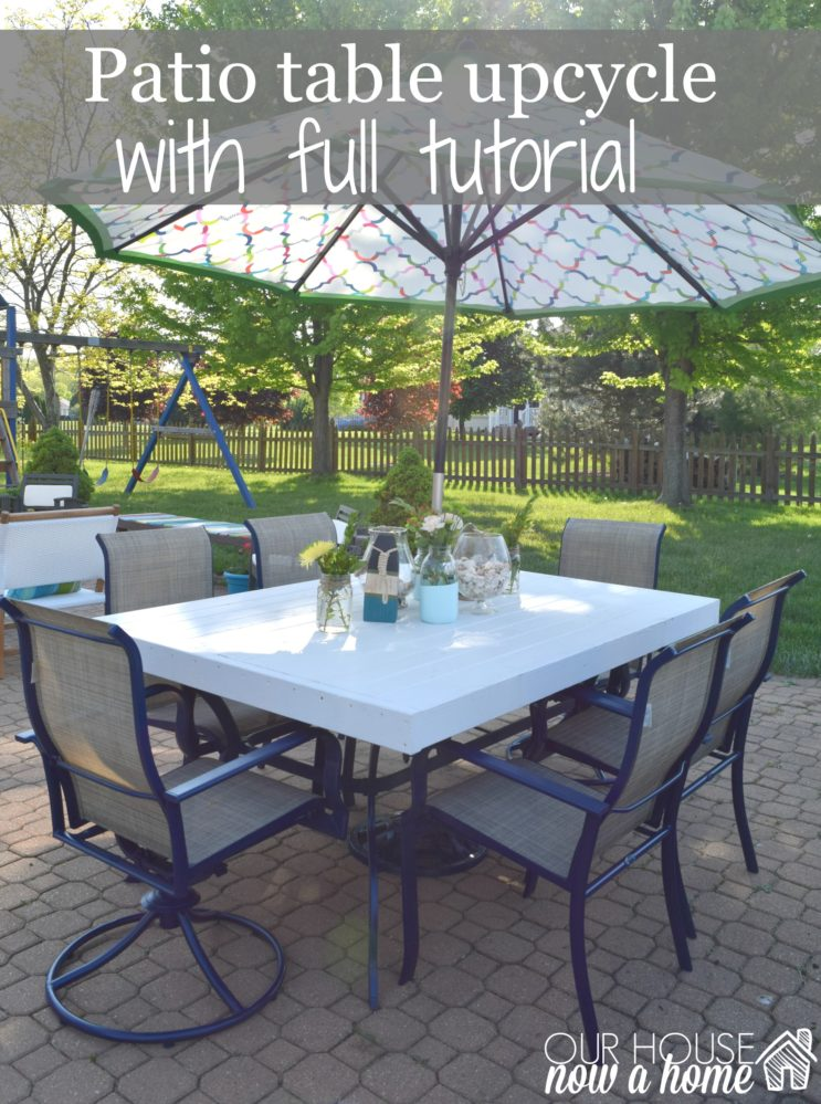 patio table transformation DIY