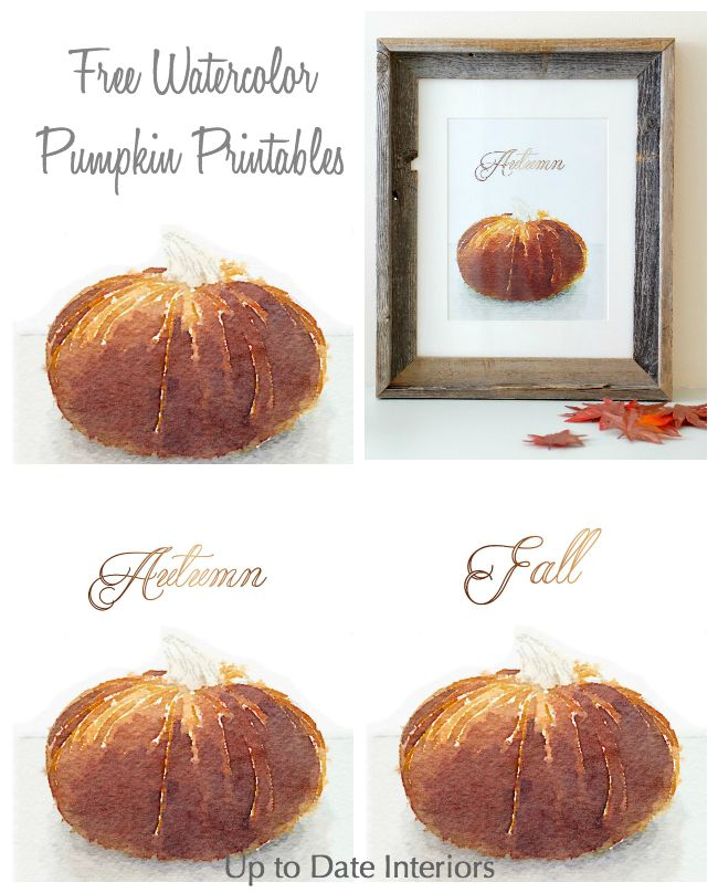 watercolor pumpkin printable