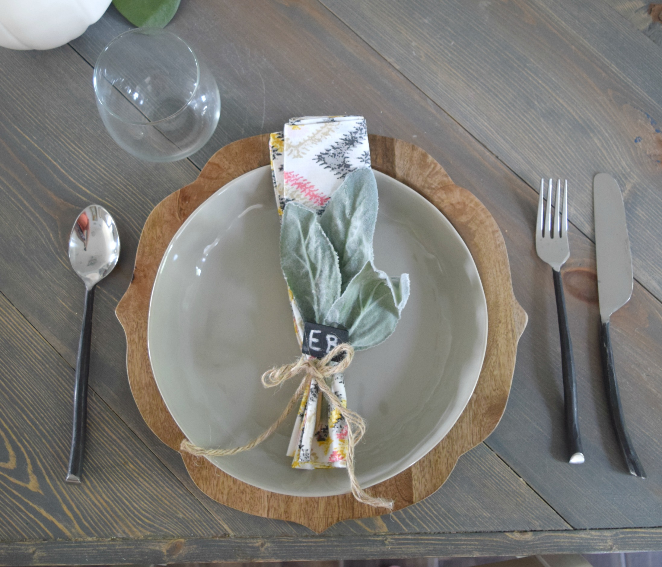 rustic place setting ideas