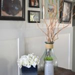 DIY cardboard tissue box turned into vase, easy craft idea