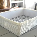 Creating a simple storage bin using rope and a cardboard box