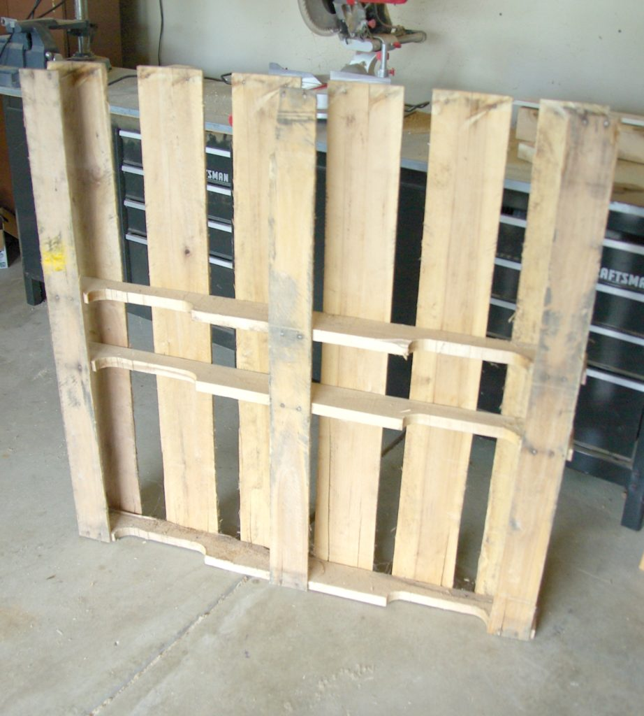 DIY wood pallet under bed toy storage • Our House Now a Home