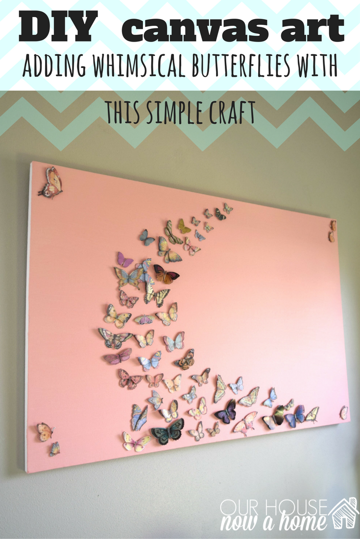 Diy Canvas Art Idea With Butterflies 1