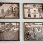 DIY large wood frame with over sized kids pictures