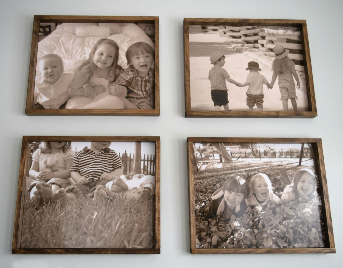 large wood frame