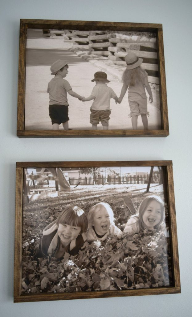 stained-wood-picture-frames