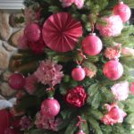 Breast cancer awareness month, decorating a tree