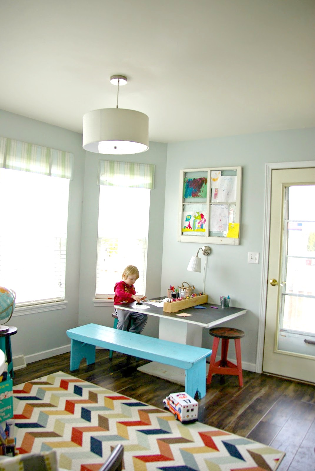 In My Home The First Major U201ckid Friendlyu201d Addition (other Than Covered  Light Sockets, Baby Gates By The Stairs And Baby Proof Cabinets) Was The  Art Table. Part 40