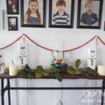 Wooden snowman craft, easy Christmas decoration idea