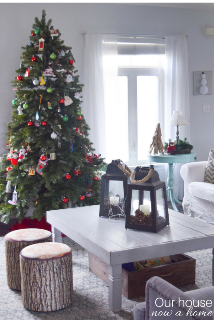 Coastal style Christmas home decor