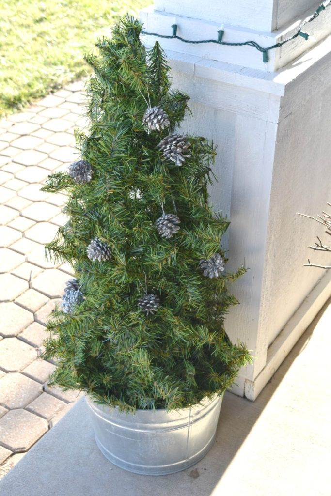 DIY Christmas tree or topiary for outdoor decor