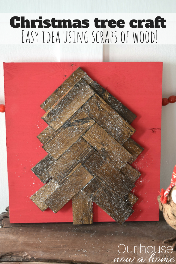 Rustic Christmas tree craft idea