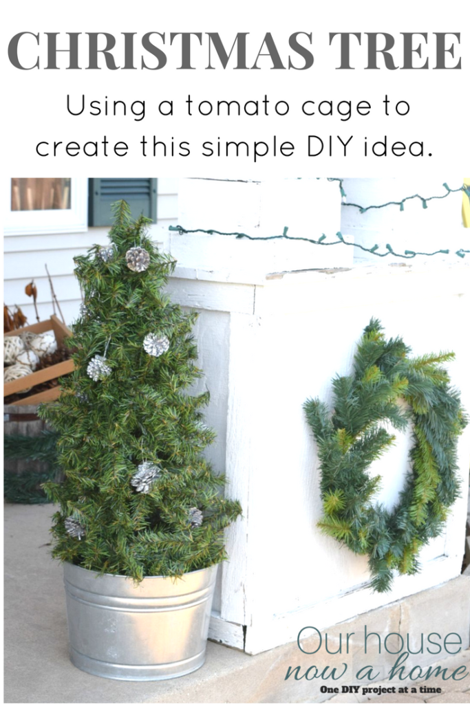 Creating the perfect DIY Christmas tree with a tomato cage!